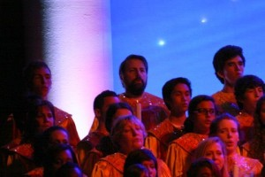 Me singing at the Candlelight Processional in Epcot.